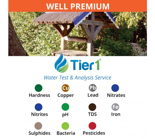Tier1 Water Testing and Analysis Service for WELL water