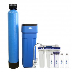 48,000 Grain Capacity Tier1 Water Softener and 5 Stage Reverse Osmosis Drinking Water Filter System Kit