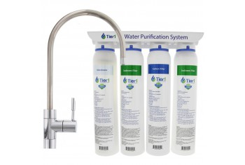 Tier1 4-Stage Under Sink Ultra-Filtration Hollow Fiber Quick-Change Drinking Water Filter System